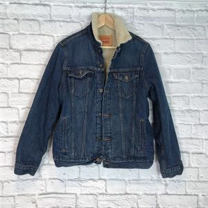 Levi's Sherpa Lined Trucker Jean Coat Jacket